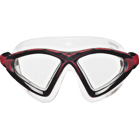 arena X-Sight 2 Masker, clear-clear-red